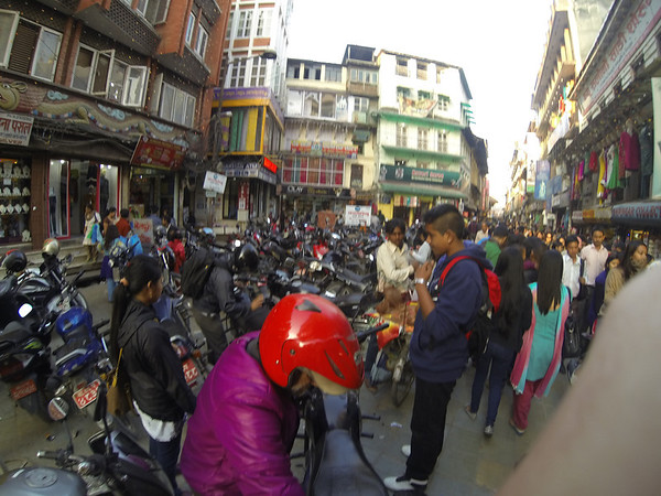 Saturday is the weekend in Nepal - and as you can see, just like everywhere else in the world, it brings everyone into the street.