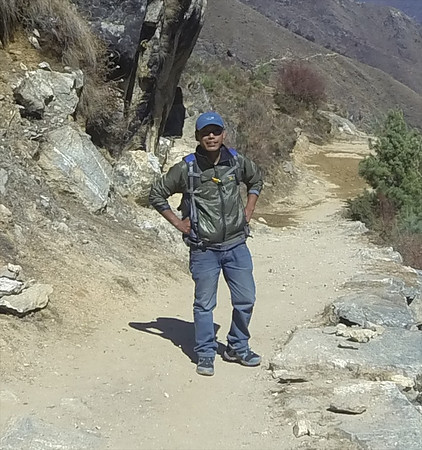 This wonderful man is the reason I'm not lost in the Himalaya. One could not ask for better company.