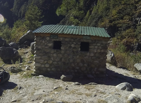 In many places in the Khumbu there are recycling stations like this. It is a part of a concerted effort to help preserve this very popular tourist region for the future of the Sherpa and the visitors.